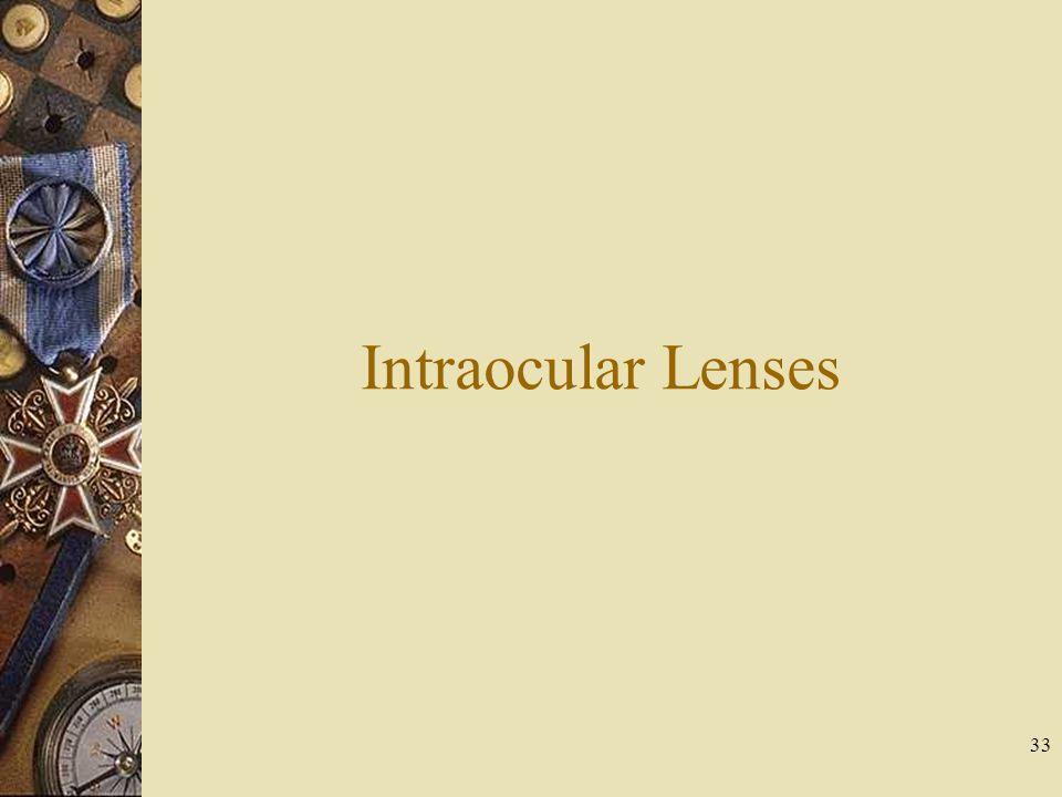 Intraocular Lenses 33