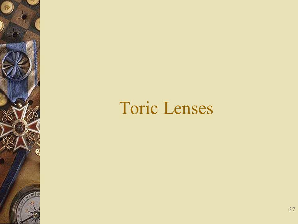 Toric Lenses 37