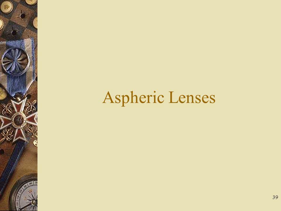 Aspheric Lenses 39