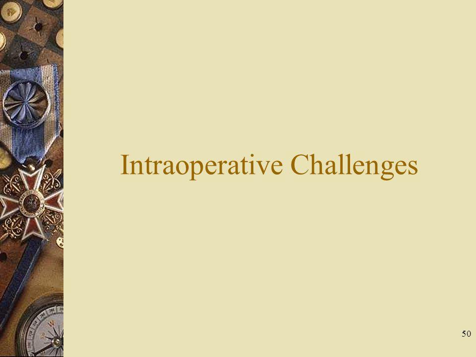 Intraoperative Challenges 50