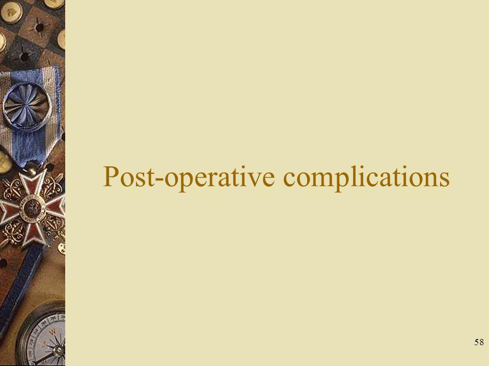 Post-operative complications 58