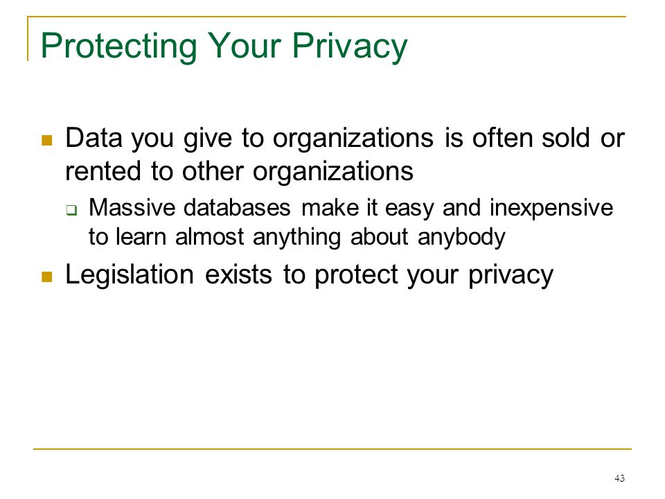 42 Privacy: How Did They Get My Data
