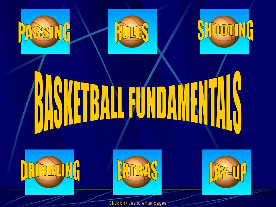 There are four types of pass most commonly used in basketball.