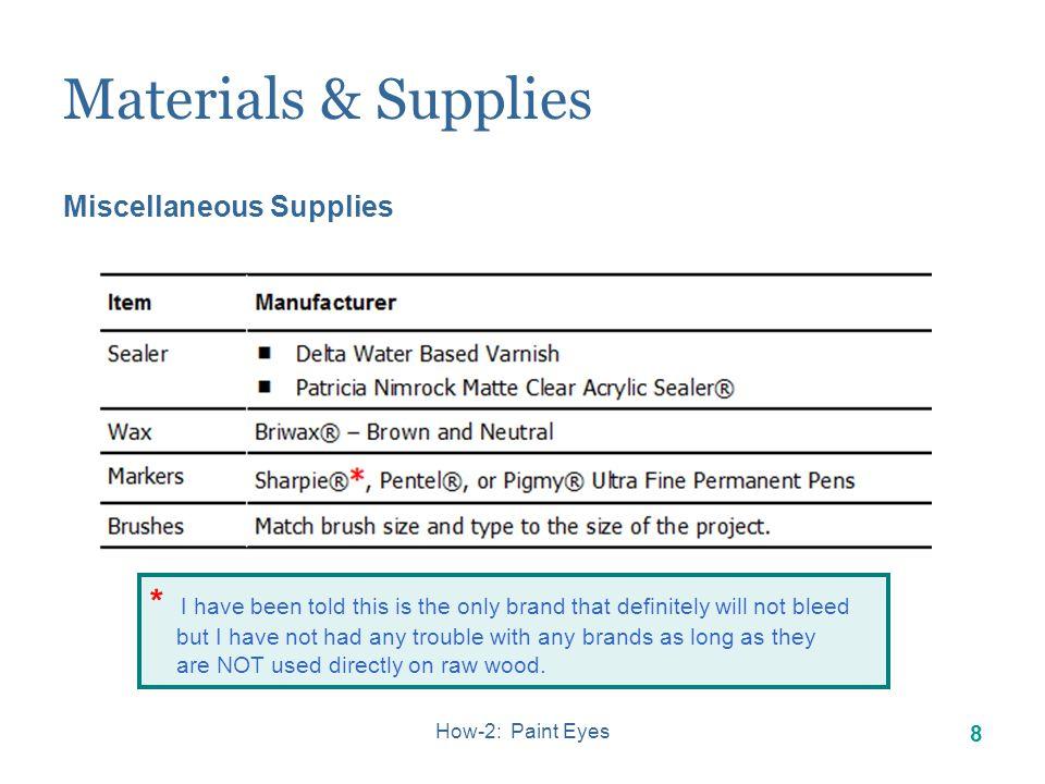 How-2: Paint Eyes 7 Materials & Supplies Paint Pallet