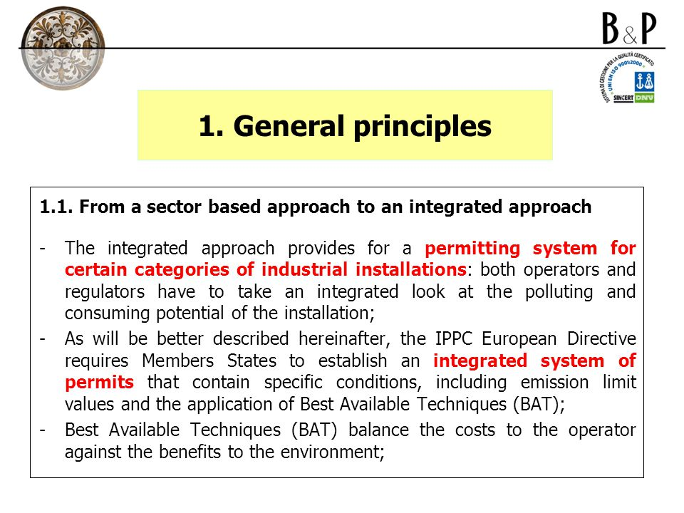 3.The implementation of the IPPC directive in Italy 3.2.