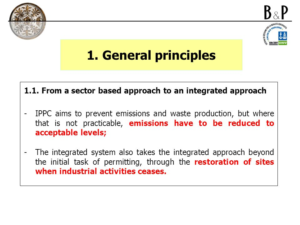 3.The implementation of the IPPC directive in Italy 3.3.