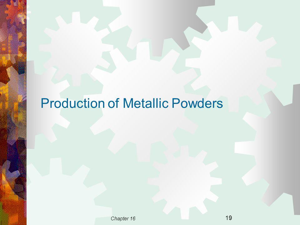 Chapter 16 19 Production of Metallic Powders
