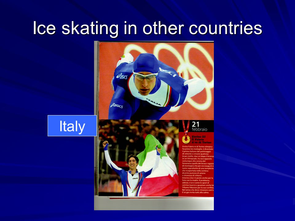 Ice skating in other countries Italy