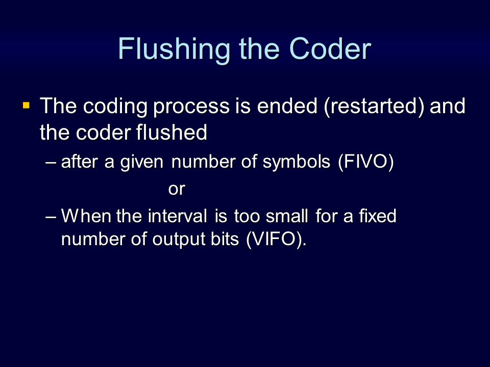 Universal Coding A universal coder doesnt need to know the statistics in advance.
