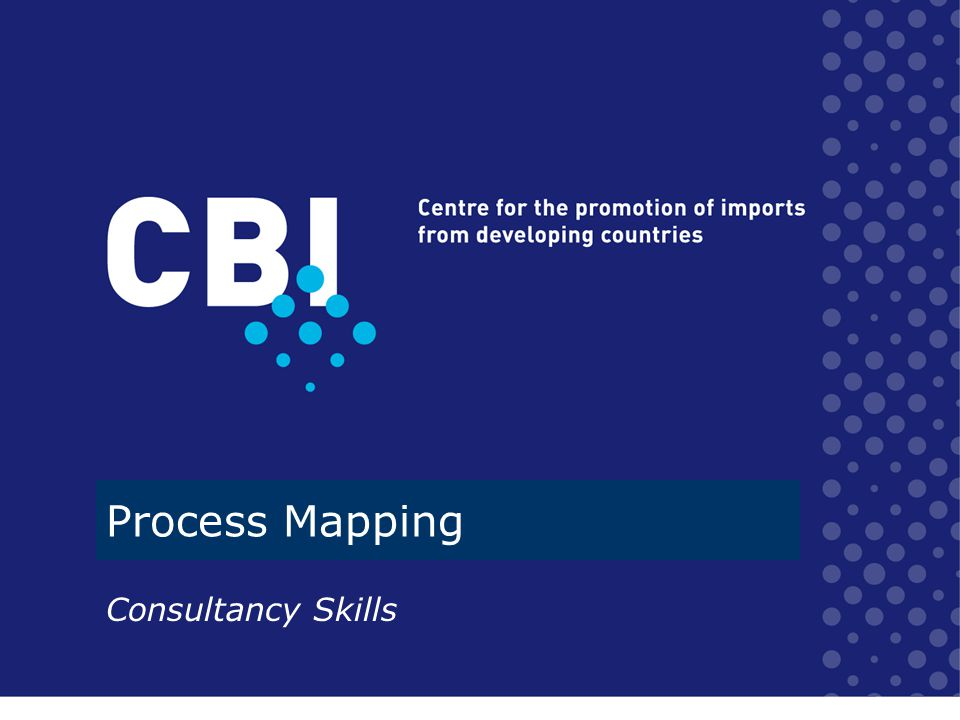What we will cover about process mapping What is it How to do it –Plan, do, review –Elements of a brown paper Process Map Appendix –What to include –Practical hints –Sample material