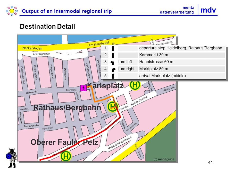 41 mdv Output of an intermodal regional trip mentz datenverarbeitung Destination Detail
