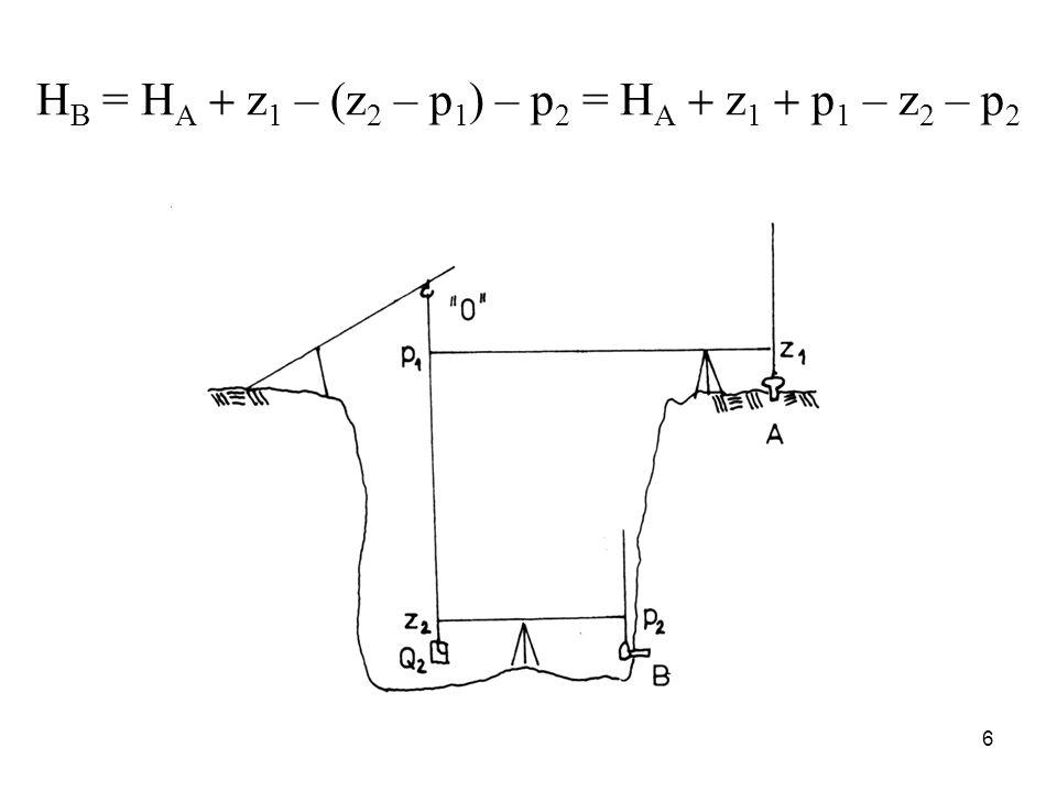 H B = H A z 1 – (z 2 – p 1 ) – p 2 = H A z 1 p 1 – z 2 – p 2 6
