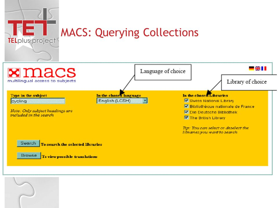 MACS: Querying Collections