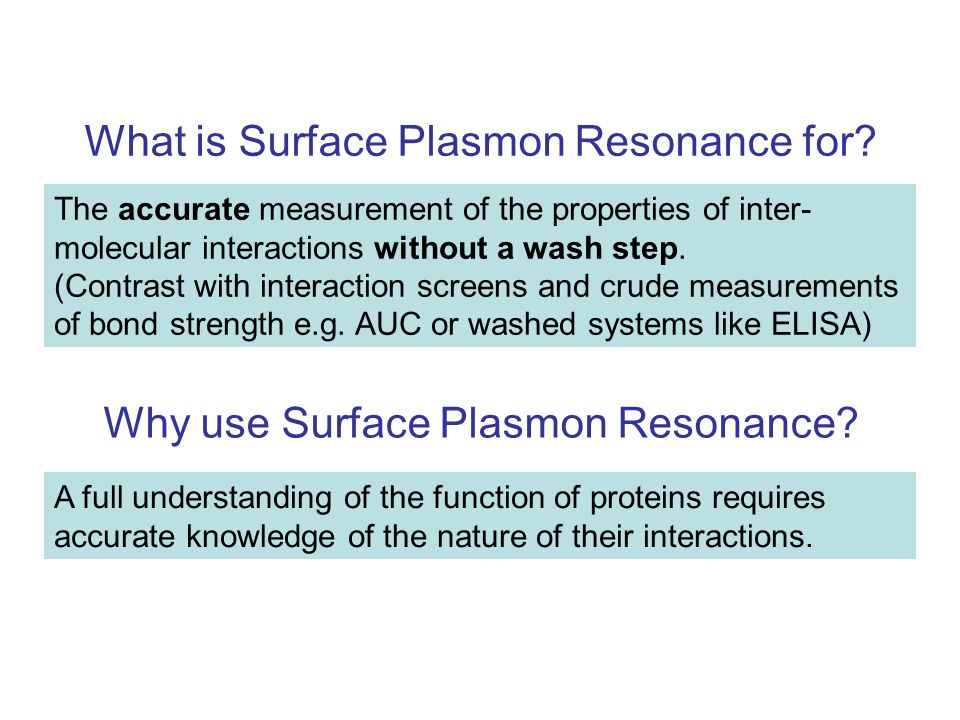 What is Surface Plasmon Resonance for.