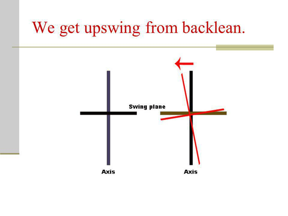 We get upswing from backlean.