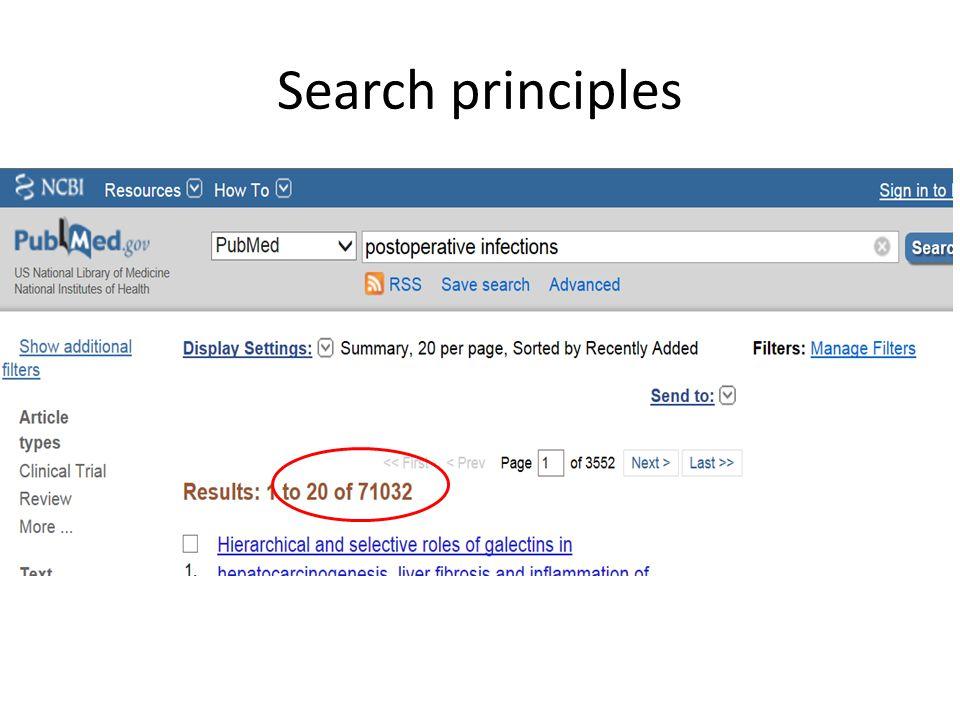 Search principles