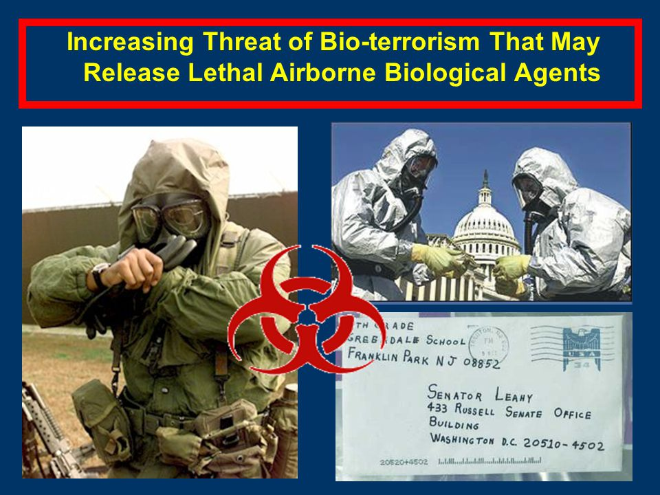 Increasing Threat of Bio-terrorism That May Release Lethal Airborne Biological Agents