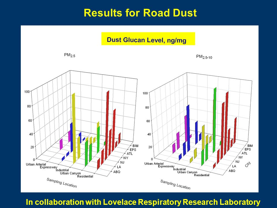 Results for Road Dust