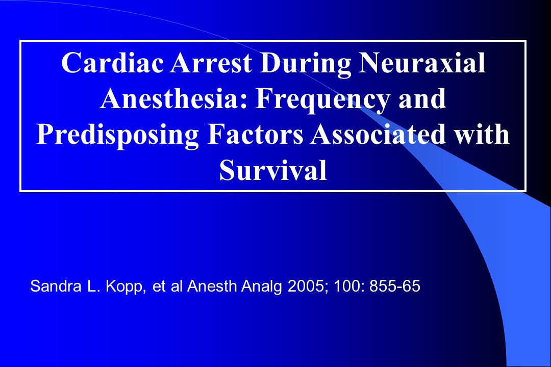 Cardiac arrest during spinal anesthesia l How can this be prevented and/or treated.