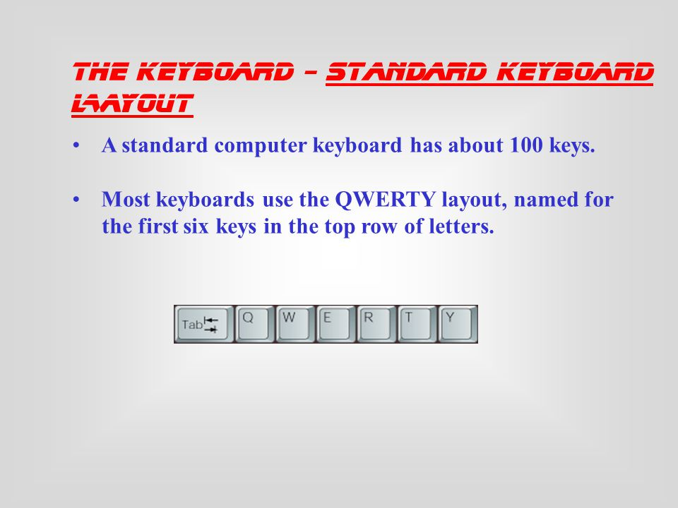 The Standard Keyboard Layout Ergonomic Keyboards How a Keyboard Works The Keyboard