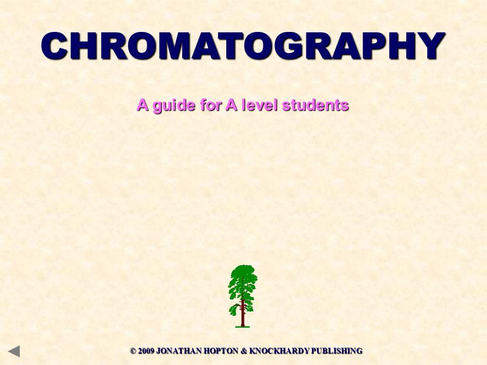 © 2009 JONATHAN HOPTON & KNOCKHARDY PUBLISHING CHROMATOGRAPHY A guide for A level students