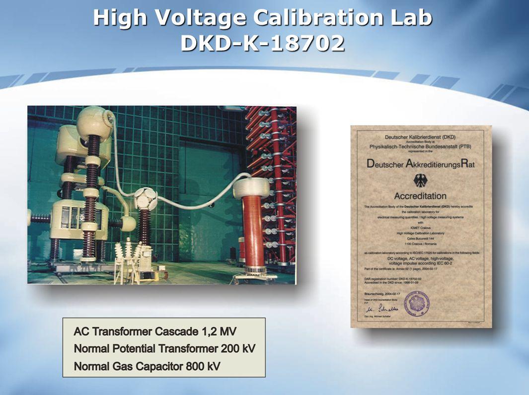 High Voltage Calibration Lab DKD-K-18702