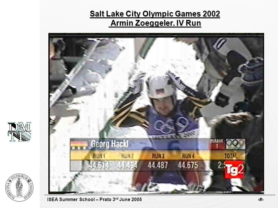 ISEA Summer School – Prato 3 rd June 2005 # Salt Lake City Olympic Games 2002 Armin Zoeggeler. IV Run