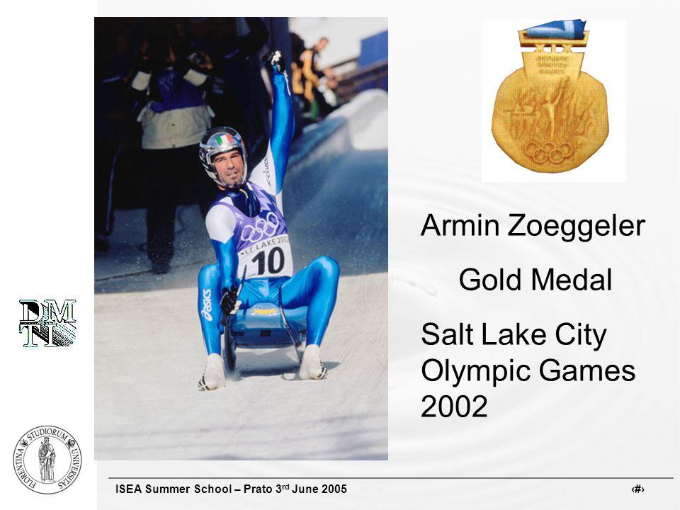 ISEA Summer School – Prato 3 rd June 2005 # Armin Zoeggeler Gold Medal Salt Lake City Olympic Games 2002