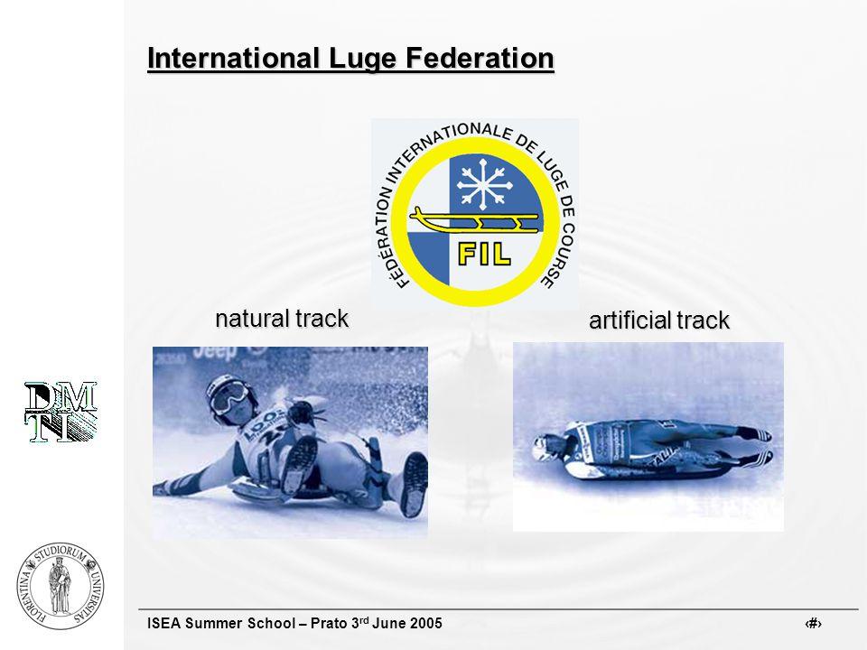 ISEA Summer School – Prato 3 rd June 2005 # International Luge Federation natural track natural track artificial track artificial track