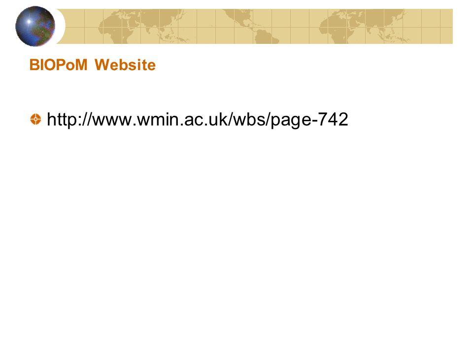 BIOPoM Website http://www.wmin.ac.uk/wbs/page-742