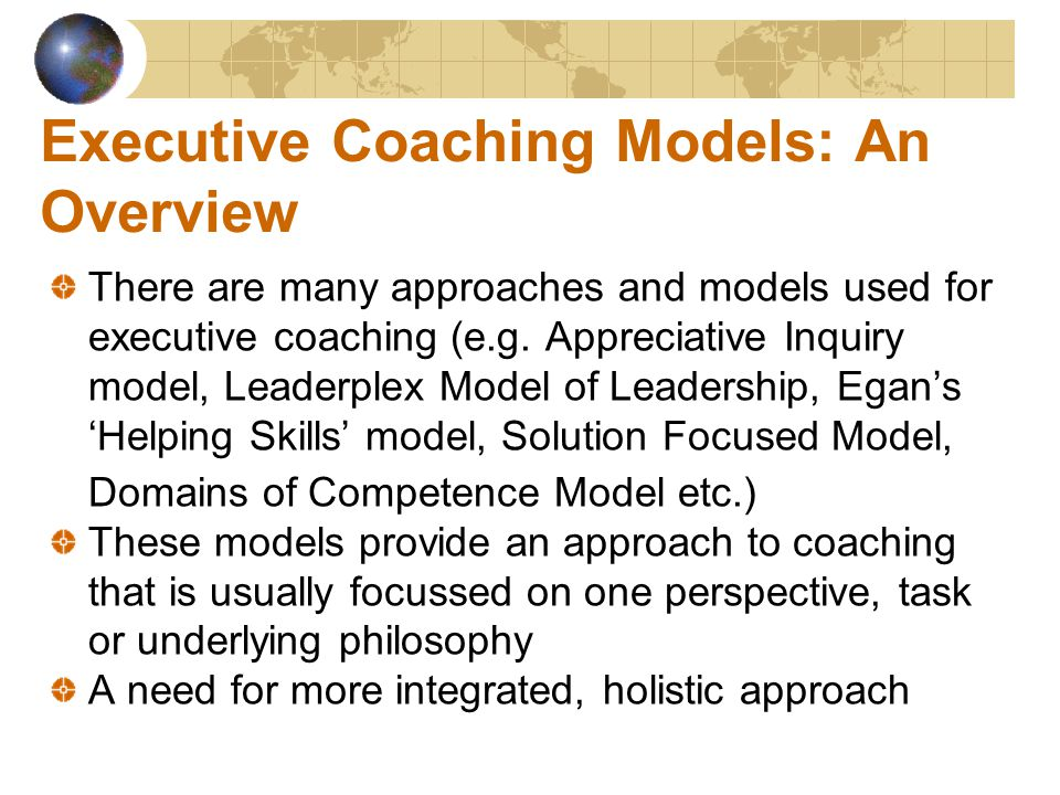 The Excellence © Model EXCELLENCE© model - new, holistic, all-round approach combining elements of various coaching models with extensive expertise in personal development and coaching The 10 phases of the model do not need to be used in sequential order, and each coaching intervention can use some (or all) parts of some (or all) phases