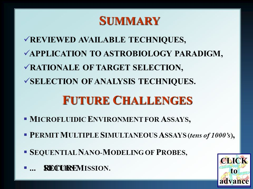 S UMMARY REVIEWED AVAILABLE TECHNIQUES, RATIONALE OF TARGET SELECTION, SELECTION OF ANALYSIS TECHNIQUES.