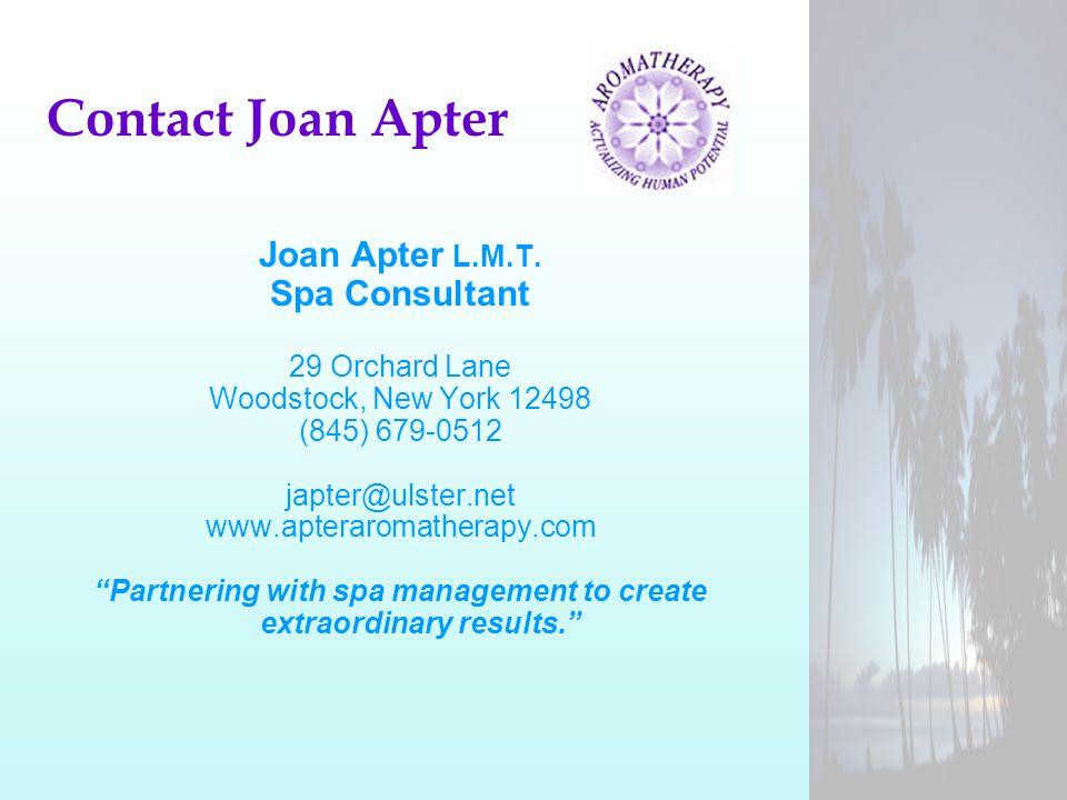 Contact Joan Apter Joan Apter L.M.T.