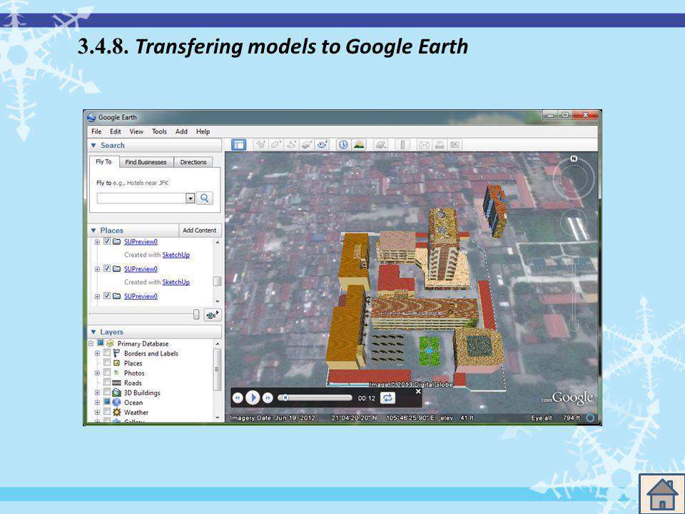 3.4.8. Transfering models to Google Earth