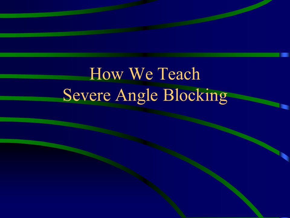 How We Teach Severe Angle Blocking