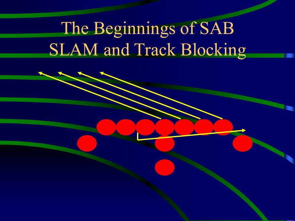 Line Man Adjustment (Shoulder Him) Blast Off Step – Same as SAB B.E.E.F Explode Step - The back foot taking a short power step down the track.