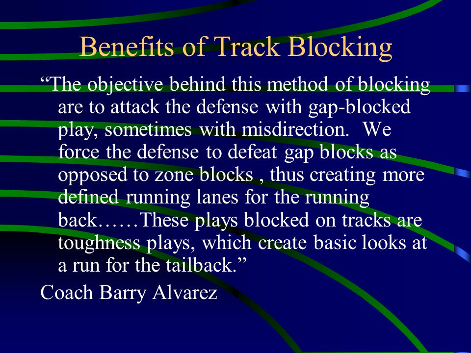 How SAB Works It does not lock your blockers on particular defenders but an imaginary track.