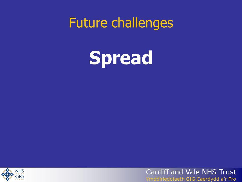 Cardiff and Vale NHS Trust Ymddiriedolaeth GIG Caerdydd ar Fro Future challenges Spread