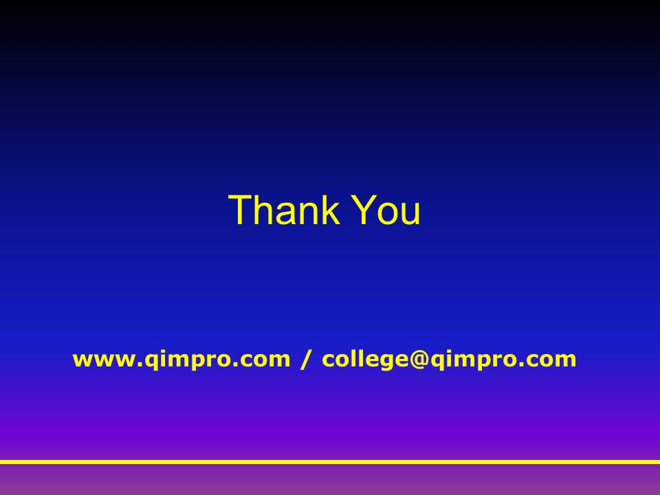 Thank You www.qimpro.com / college@qimpro.com