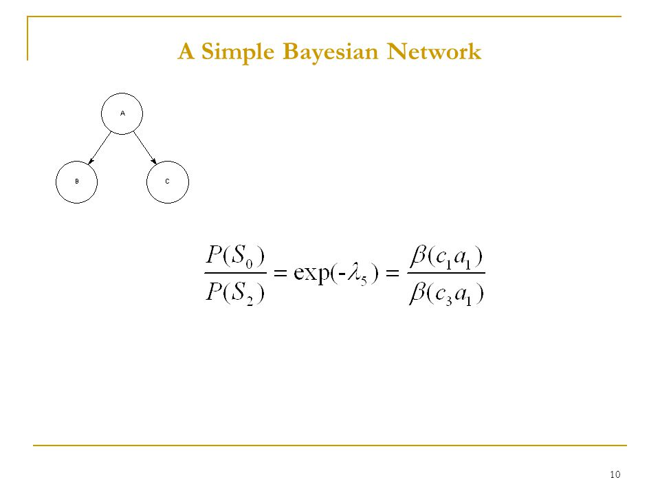10 A Simple Bayesian Network