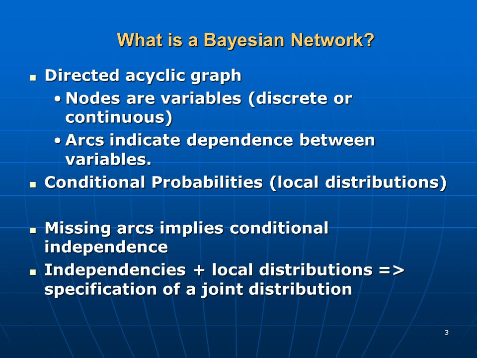 3 What is a Bayesian Network.