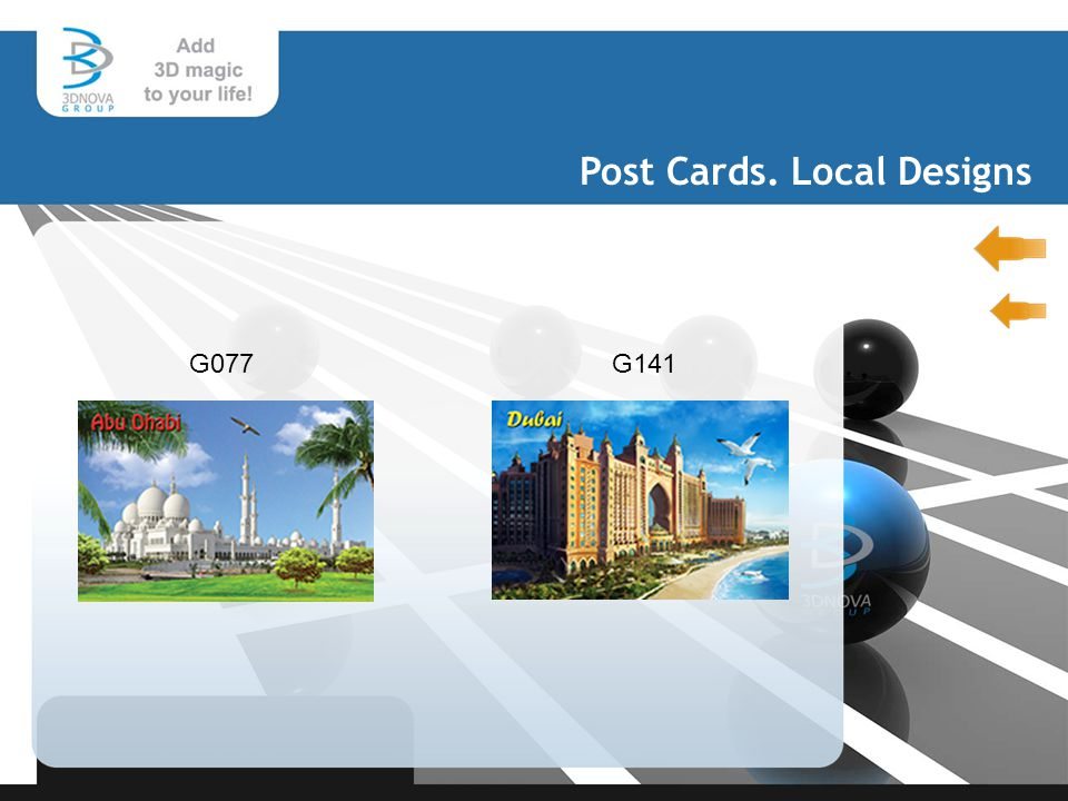 Post Cards. Local Designs G077G141