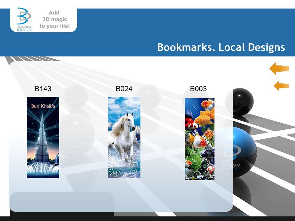 Bookmarks. Local Designs B143B024B003