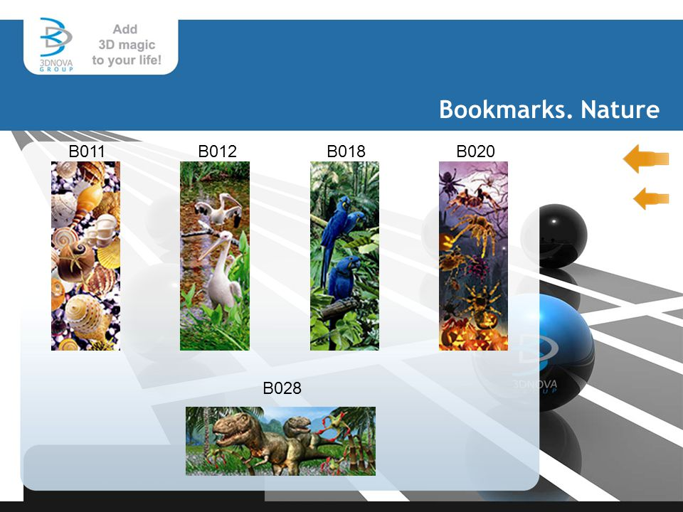 Bookmarks. Nature B011B012 B018 B020 B028