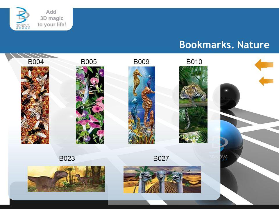 Bookmarks. Nature B004B005 B009 B010 B027B023