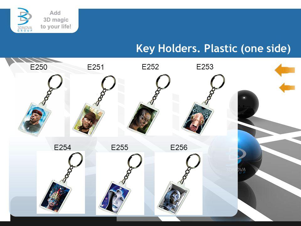 Key Holders. Plastic (one side) E250E251 E252E253 E254 E255 E256
