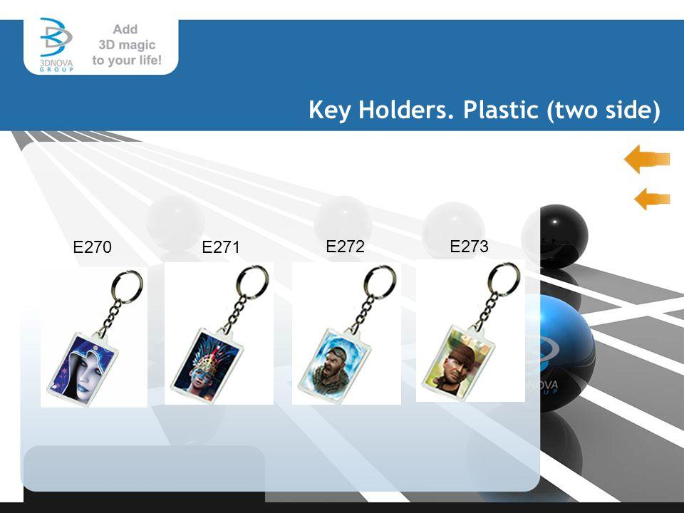 Key Holders. Plastic (two side) E270 E271 E272E273