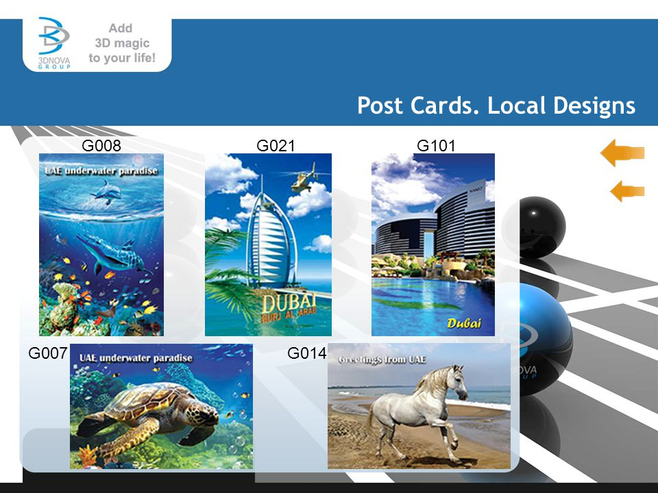 Post Cards. Local Designs G008 G101 G007G014 G021