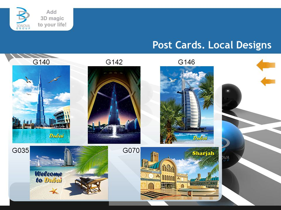 Post Cards. Local Designs G140 G146 G035G070 G142