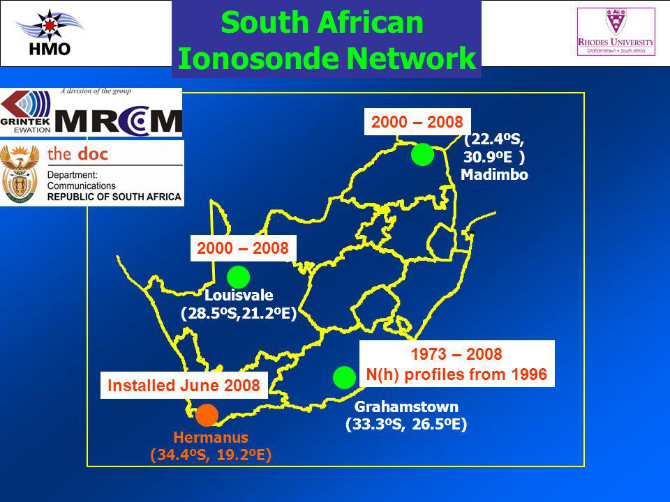 South African Ionosonde Network